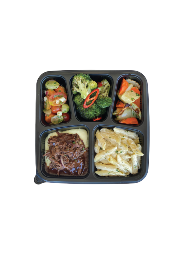 Pulled Braised Beef Bento
